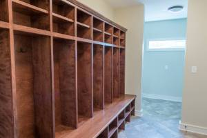 custom built cabinet lockers in home