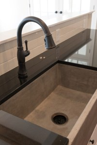 custom concrete kitchen sink