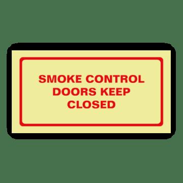smoke doors safty sign