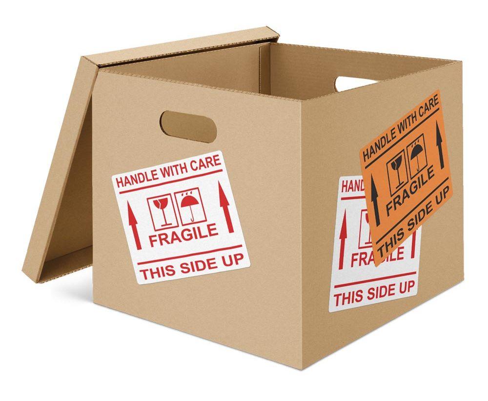 Pre-printed Fragile Labels
