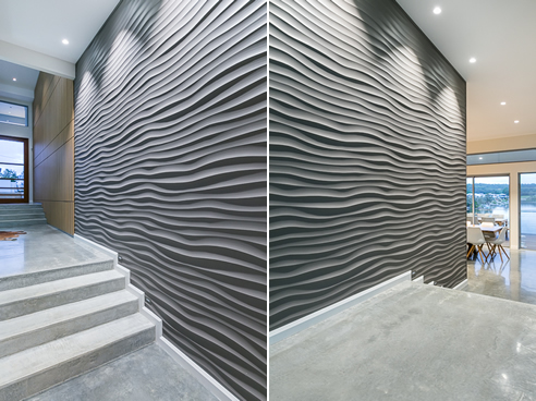 3d Wallpaper For Walls Australia 3d Wall Panels Make A Splash In This Waterfront Home