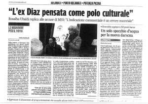 Articolo del Corriere Adriatico sull'intervento dell'Ex Sindaco Ubaldi