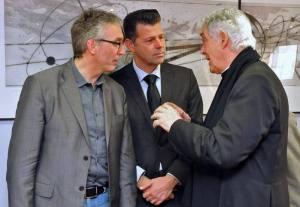 I tre esponenti del Comitato Paritetico religioso e laico del Giubileo della Misericordia/Marche: il Governatore Ceriscioli, il sindaco di Senigallia Mangialardi e il Cardinale Menichelli