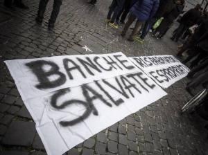 Manifestazione contro le banche (Corriere.it)