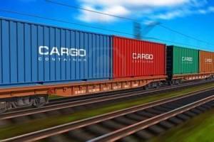 Treno merci con contenitori cargo