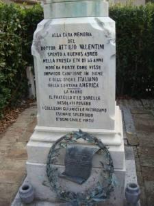 La stele di Attilio Valentini