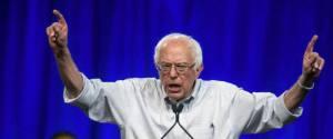 11/08/2015 Los Angeles, campagna elettorale di Bernie Sanders, candidato alle elezioni presidenziali USA (ANSA)