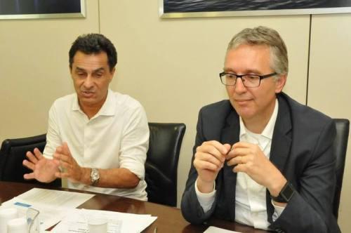 ANCONA, 22 GIU - L'assessore regionale alla Cultura e Turismo Moreno Pieroni e il presidente della Regione Marche Luca Ceriscioli.
