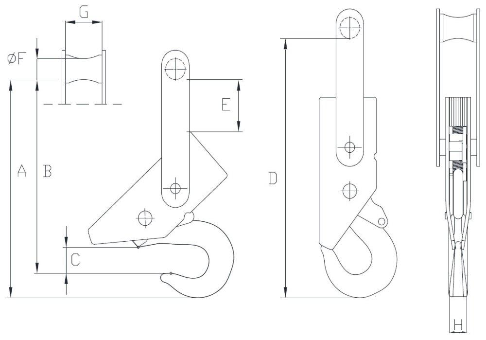 medium resolution of gigasense piab is series automatic lifting hook
