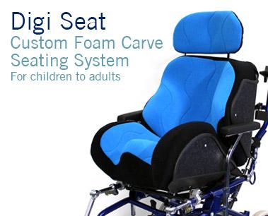 Digi Seat custom wheelchair seating  Specialised Orthotic