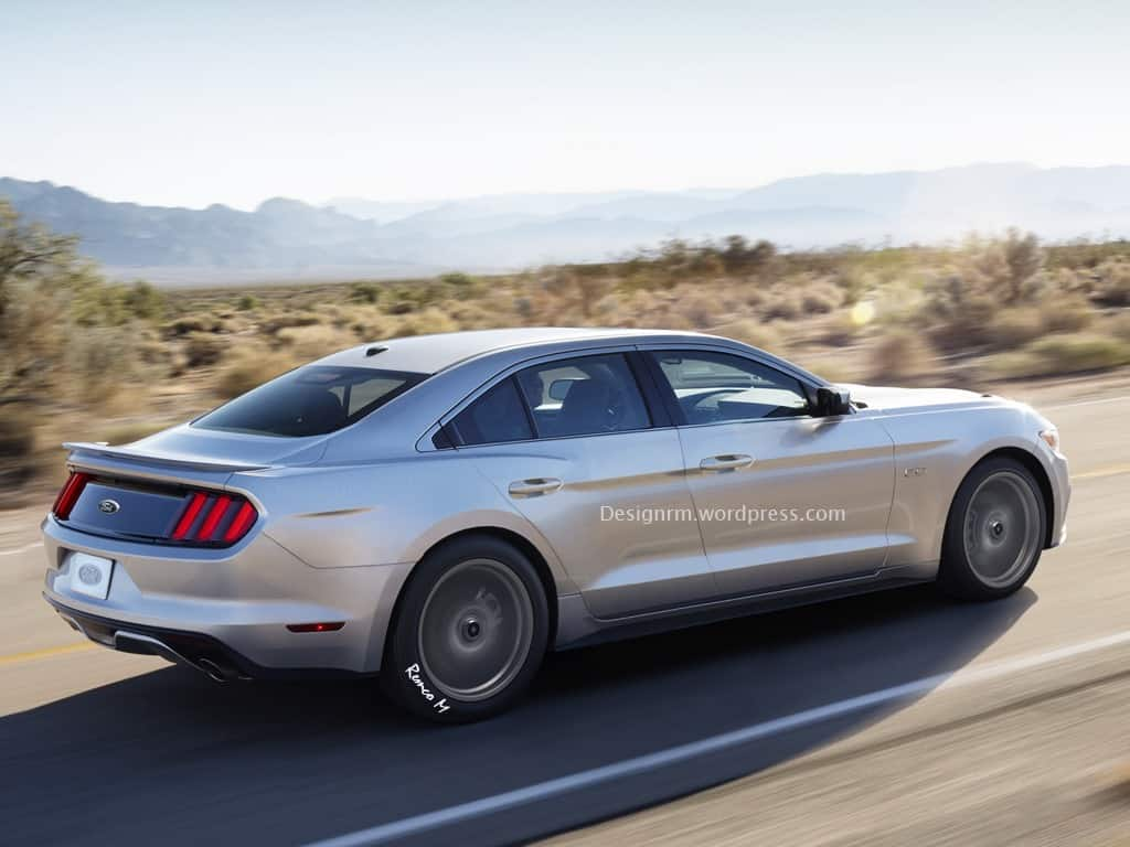 2020 - [Ford] Mustang Mach-E - Page 5 Ford-Mustang-Sedan-des-rendus-4-portes-1