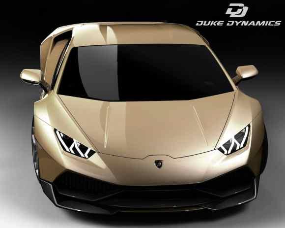 Duke Dynamics recouvre cette Huracan LP610-4 d'une couleur carrosserie dorée