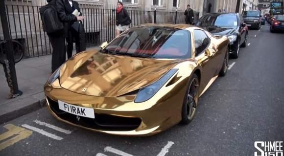 L'or s'accroche aux voitures de nos jours ! :)