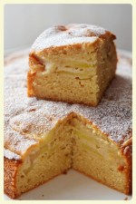 French apple yogurt cake. Featured by Special Learning House. www.speciallearninghouse.com.