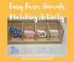 Easy farm animals matching activity