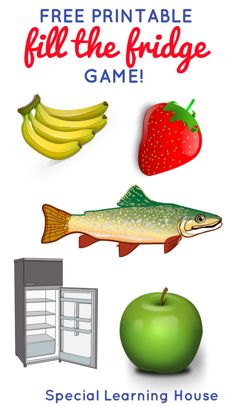 FILL THE FRIDGE! This free printable food matching activity is a great way work on new vocabulary, following instructions and colors. | speciallearninghouse.com