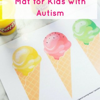 Ice cream playdough mat for kids with autism. | speciallearninghouse.com
