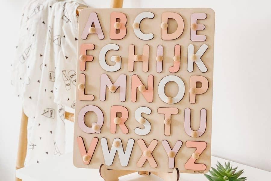 Puzzles for Autism - Alphabet Letters Wooden Peg Puzzle