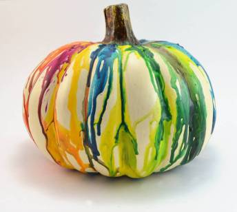 Prepare a Healthier Autism-Friendly Halloween. Melted Crayons Pumpkins. | speciallearninghouse.com