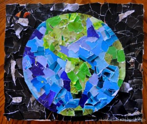 Earth Day Collage #autism #autismawareness #speciallearninghouse #earthday #finemotor