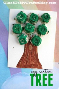 Egg Carton Earth Day Tree #autism #autismawareness #speciallearninghouse #earthday #finemotor