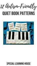 12 Autism-Friendly Quiet Book Patterns #quietbook #quietbooks #spd #autism