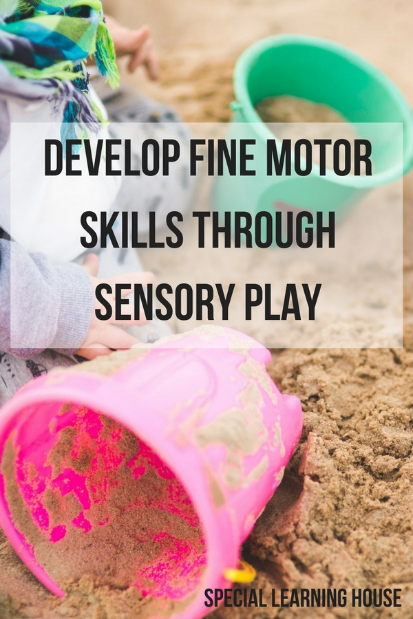 Benefits of sensory play for autism. Develop fine motor skills through sensory play #autism #sensoryplay #spd #parenting