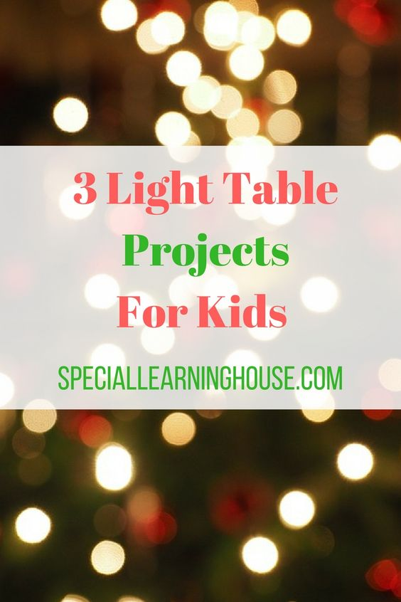 Light Table Activities & Projects #autism #lighttable #spd #adhd