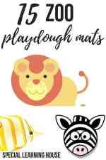 15 Zoo playdough mats #playdoughmat #playdough