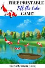 Free Printable Fill the Lake Game!