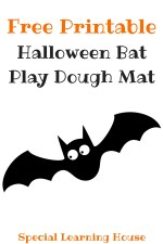 Bat Playdough Mat (Free Printable)