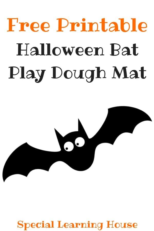 Bat Playdough Mat (Free Printable)