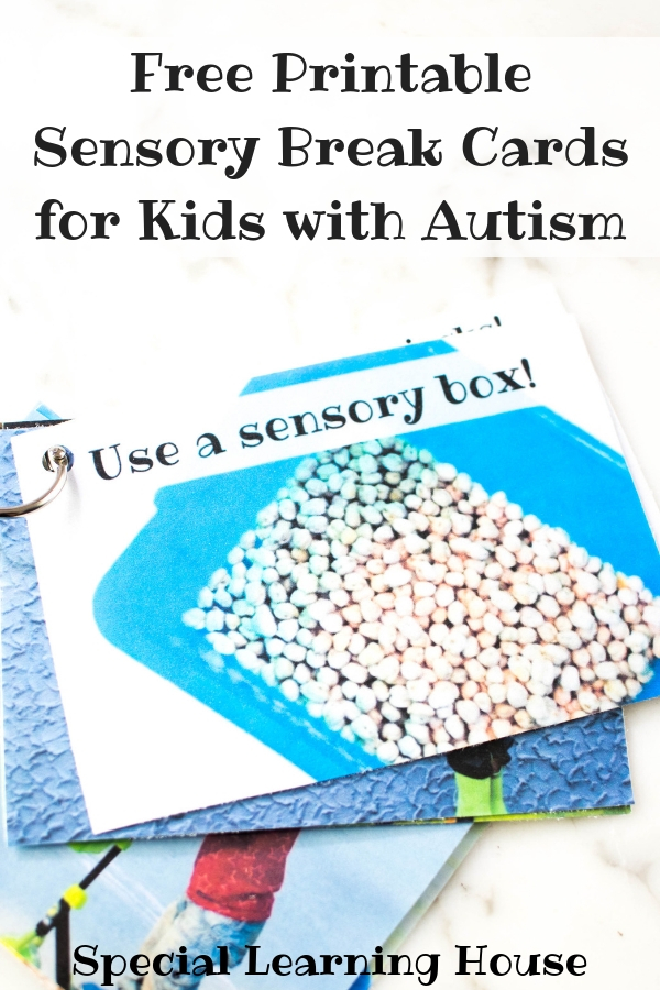 Free Printable Sensory Break Cards for Kids with Autism