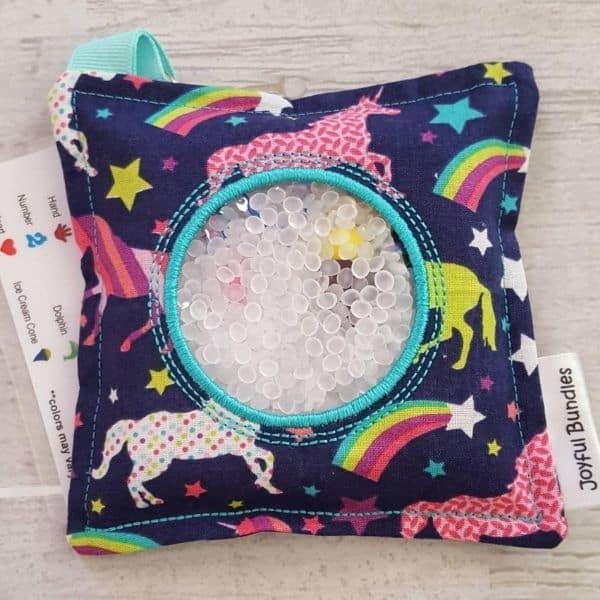 unicorn I Spy bag