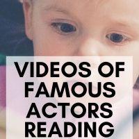 Videos of Famous Actors Reading Kids Books