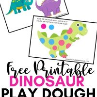 Dinosaur Play Dough Mats