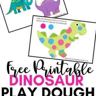 Free Printable Dinosaur Play Dough Mats 2