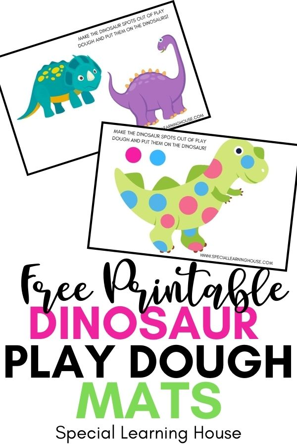 Free Printable Dinosaur Play Dough Mats 2