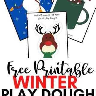 Free Printable Winter Play Dough Mats