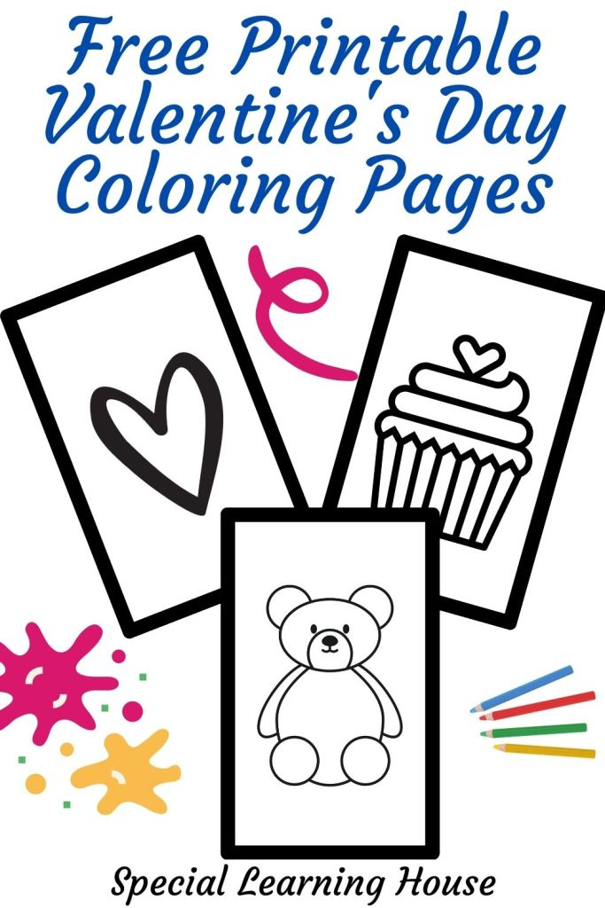 Free Printable Valentine's Day Coloring Pages PIN 2