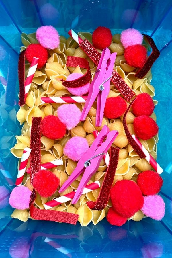 Valentine's Day Sensory Bin for your February Lesson Plan