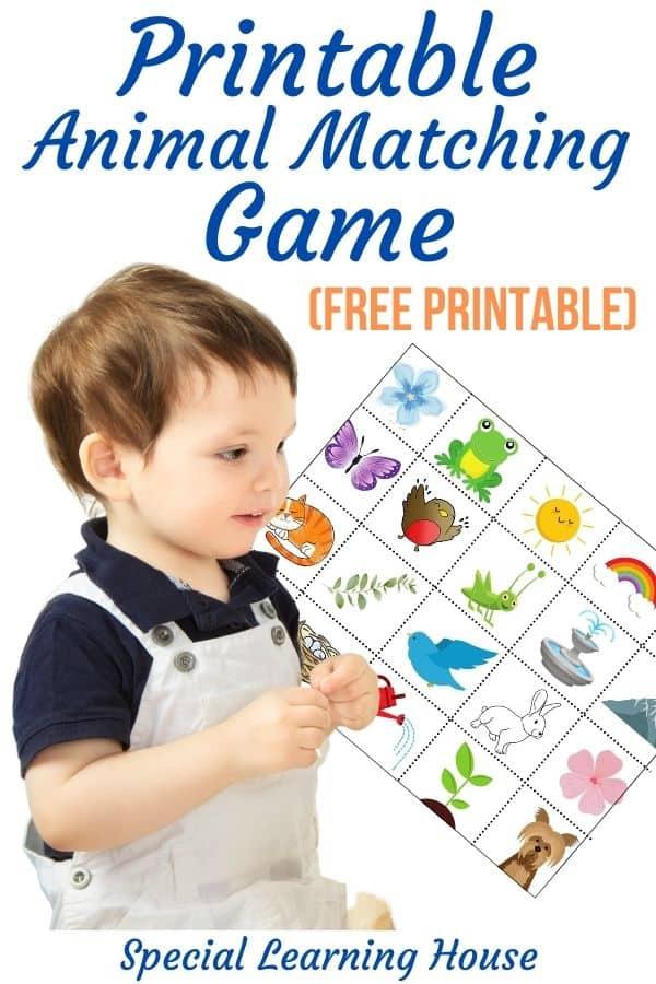 Printable Animal Matching Game 2