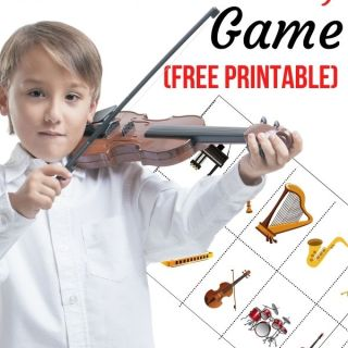 Printable Instrument Matching Game Cover