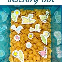 Spring Sensory Bin for Kids with Autism