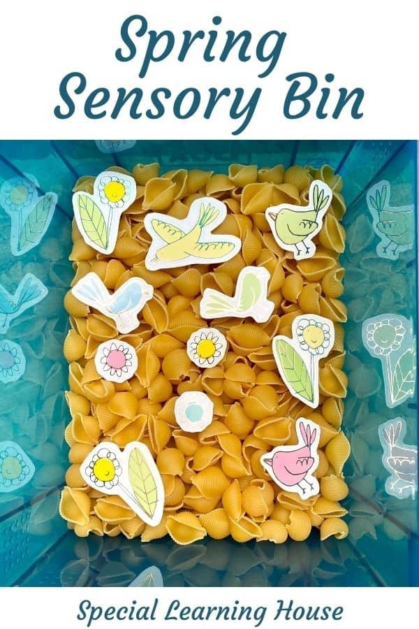 Spring Sensory Bin Cover