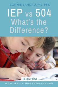 IEP vs 504 What is the difference?