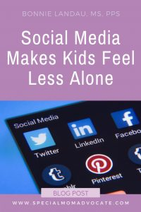 Social Media Makes Kids Feel Less Alone
