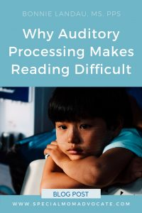 Why Auditory Processing Disorder (APD) Makes Reading Difficult.