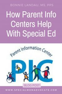 How Parent Info Centers Help with Special Education