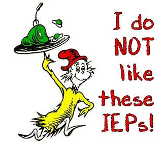 I Do Not Like These IEPs